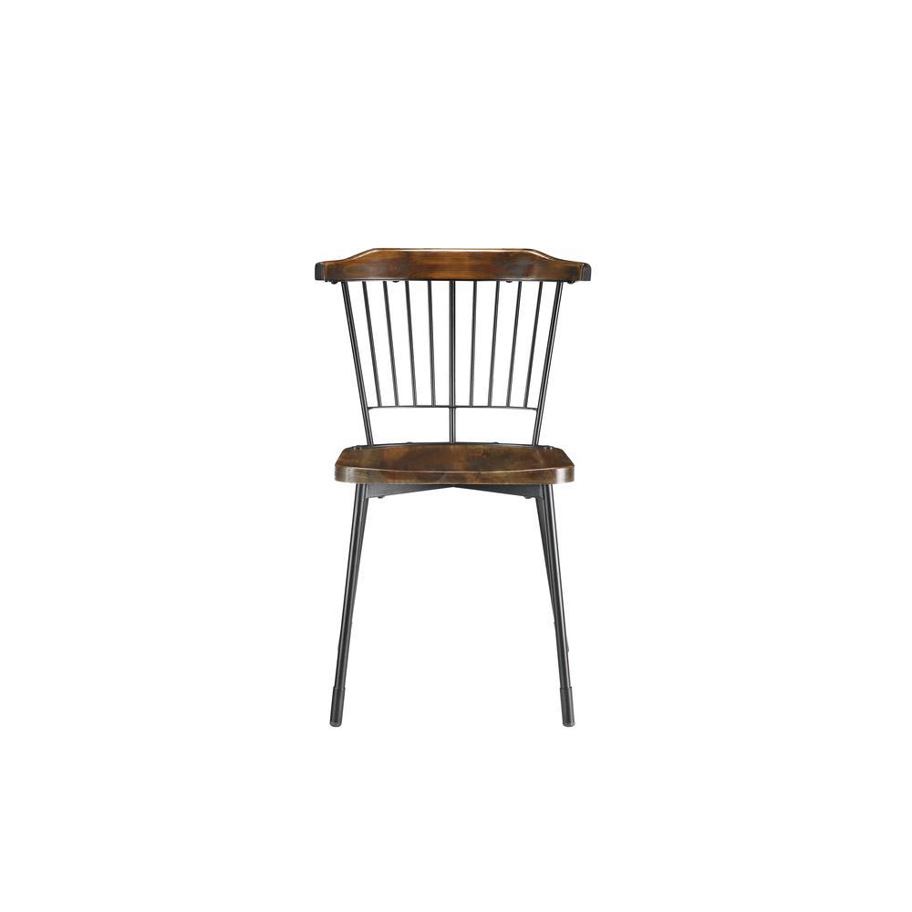 Orien Side Chair (Set-2), Black & Brown Oak. Picture 4