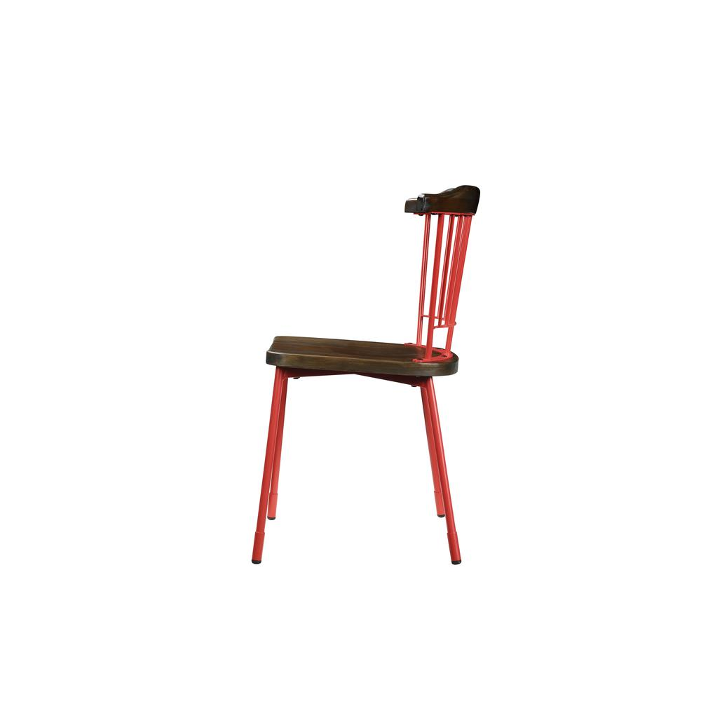 Orien Side Chair (Set-2), Teal & Brown Oak. Picture 10