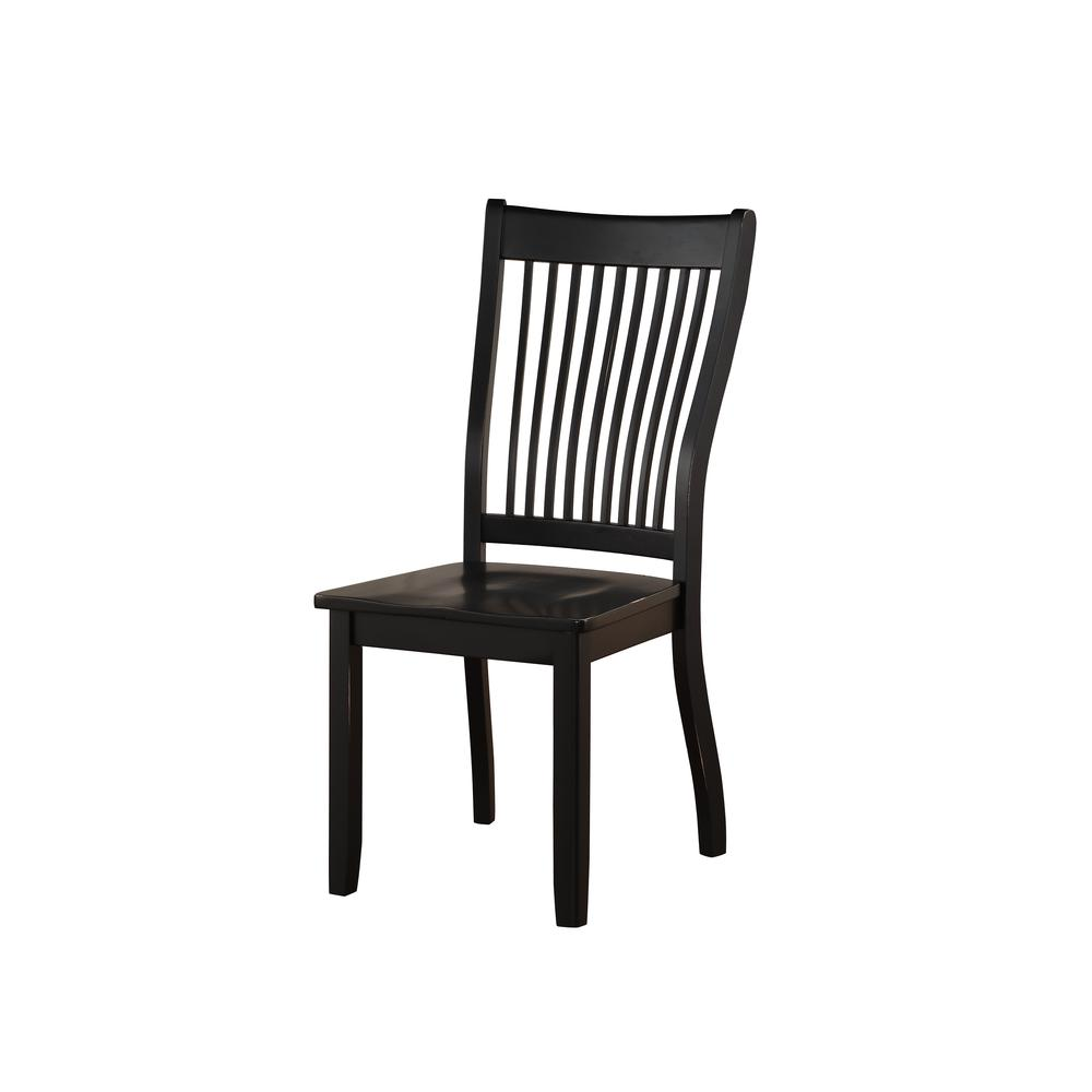 Renske Side Chair (Set-2), Black. Picture 1
