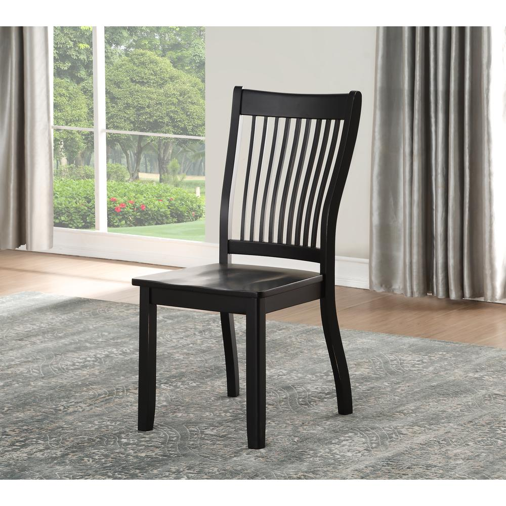 Renske Side Chair (Set-2), Black. Picture 5