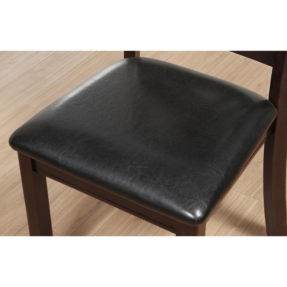 Katrien Side Chair (Set-2), Black PU & Espresso. Picture 6