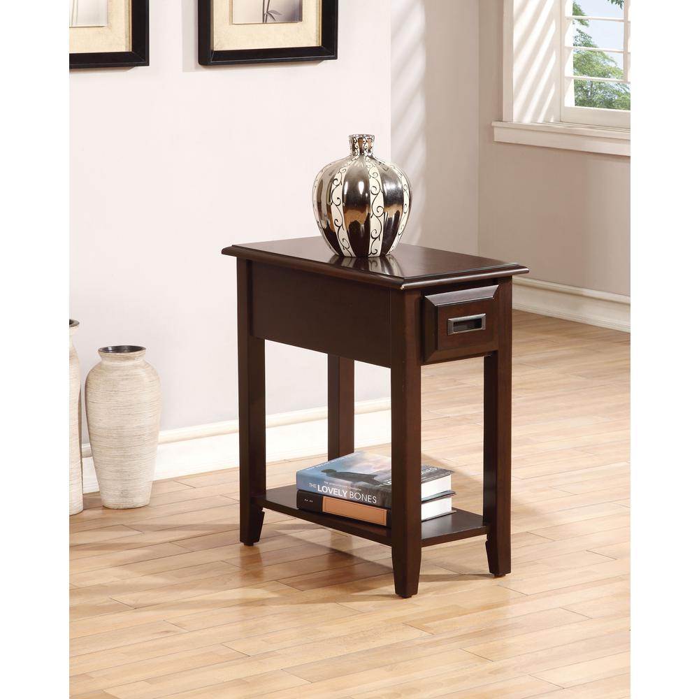 Flin Side Table, Dark Cherry. Picture 1