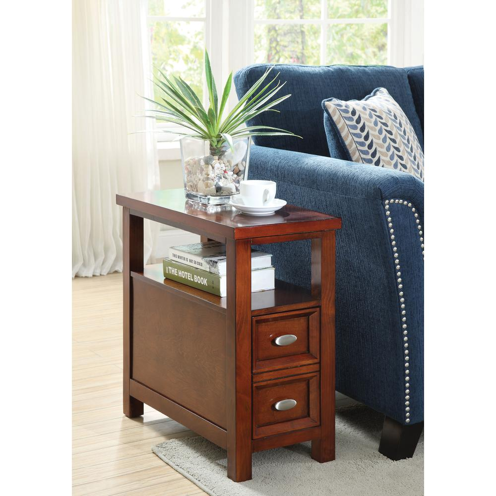 Perrie Side Table, Cherry. Picture 1