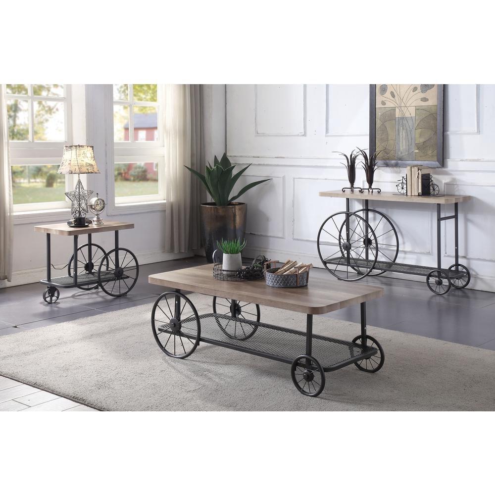 Antique Gray Coffee Tables: Francie Coffee Table, Oak & Antique Gray