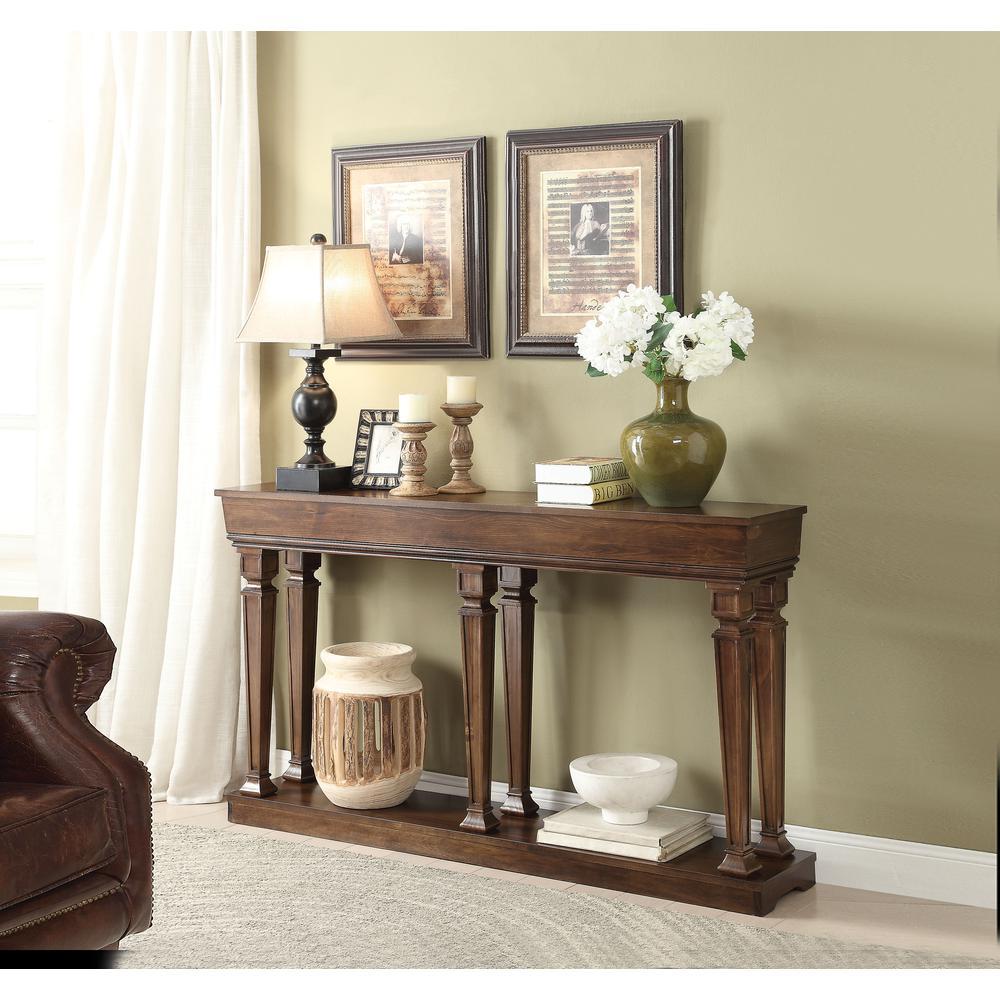 Garrison Console Table, Oak. Picture 1