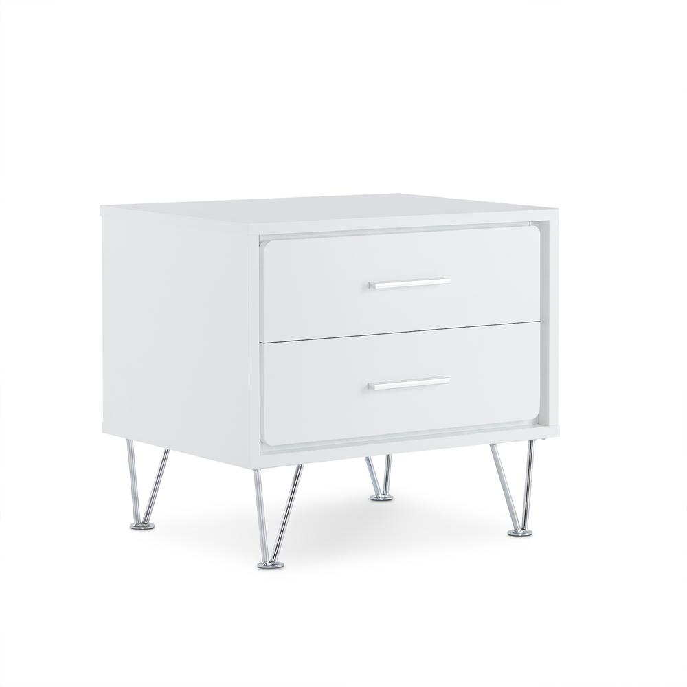 Deoss Night Table, White. Picture 9