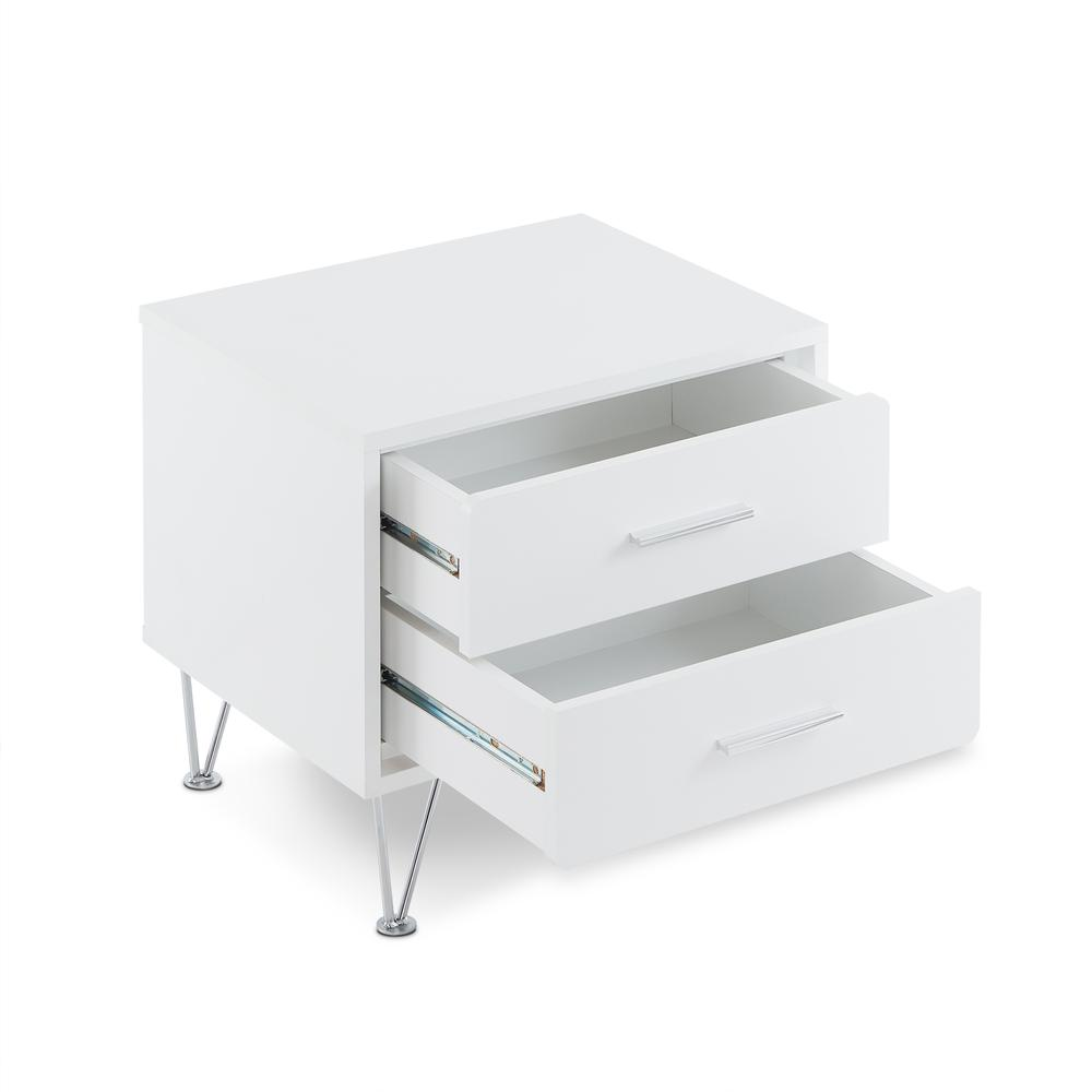 Deoss Night Table, White. Picture 10