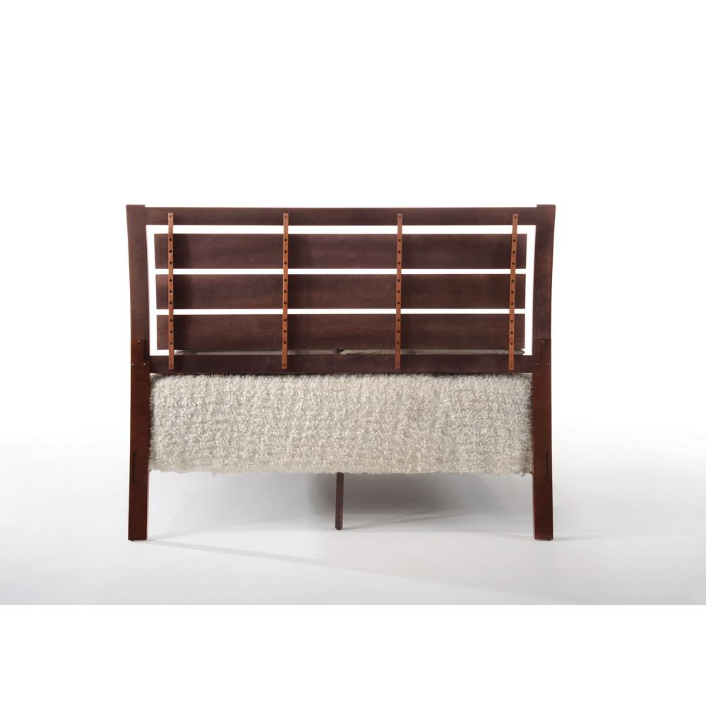 Ilana Queen Bed w/Storage, Brown PU & Brown Cherry, (1Set/3Ctn). Picture 3