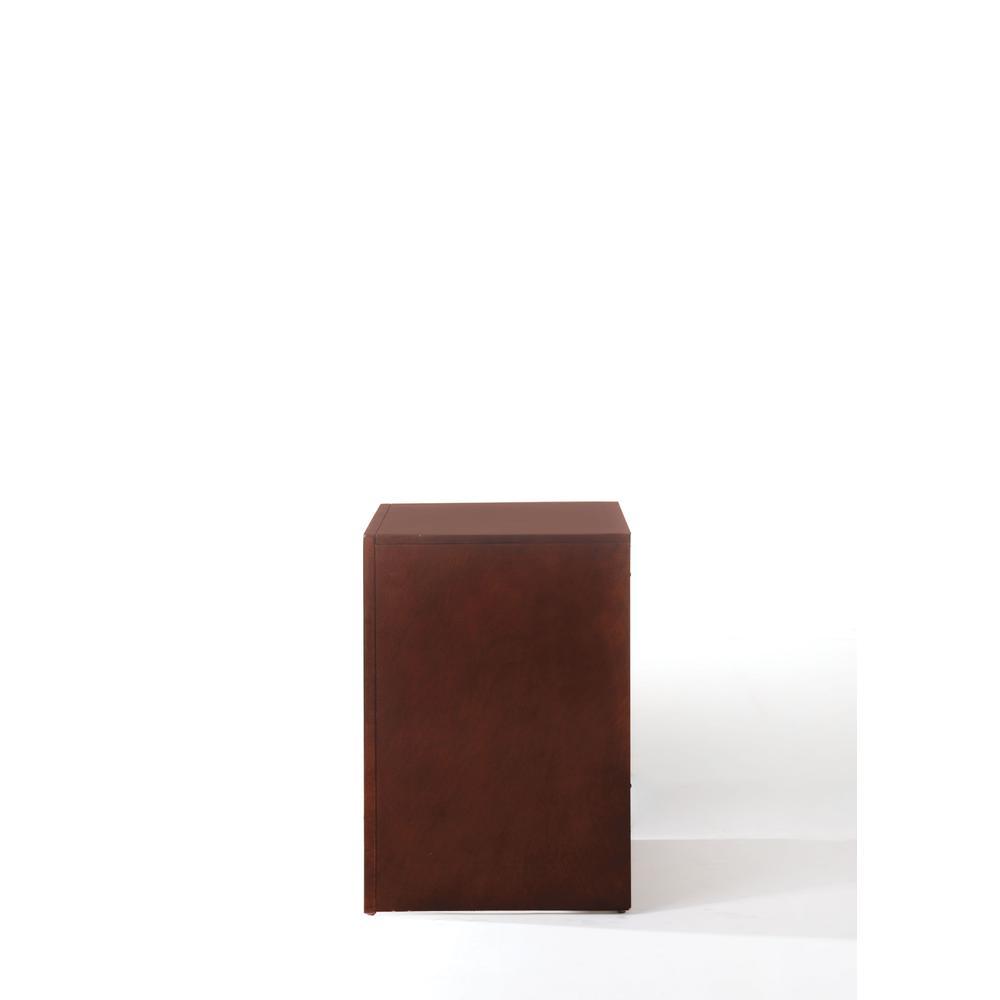 Ilana Nightstand, Brown Cherry. Picture 6