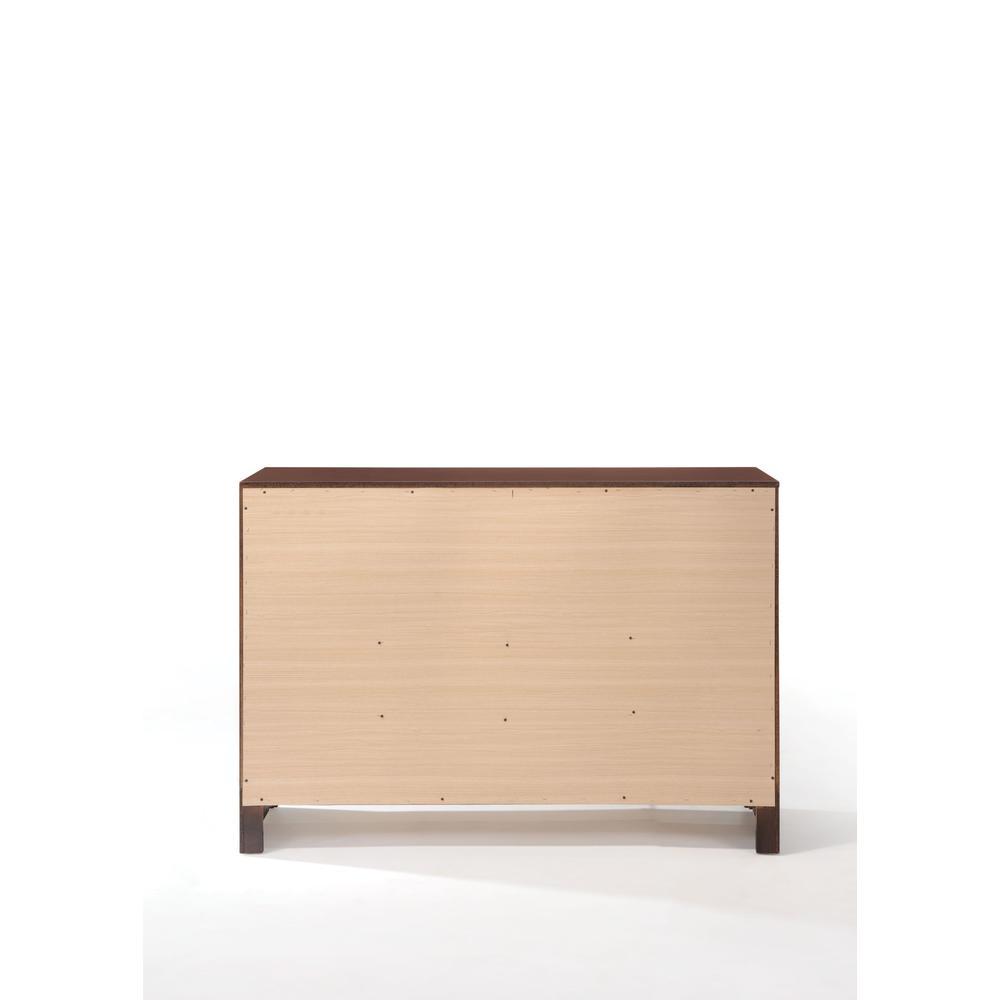 Ilana Queen Bed w/Storage, Brown PU & Brown Cherry, (1Set/3Ctn). Picture 15