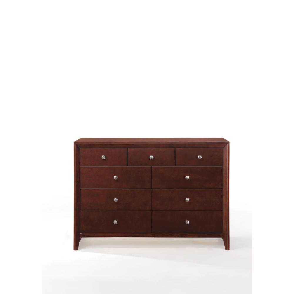 Ilana Queen Bed w/Storage, Brown PU & Brown Cherry, (1Set/3Ctn). Picture 16