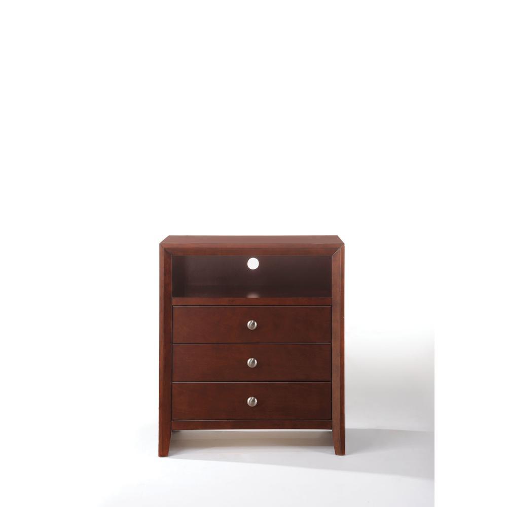 Ilana Queen Bed w/Storage, Brown PU & Brown Cherry, (1Set/3Ctn). Picture 28
