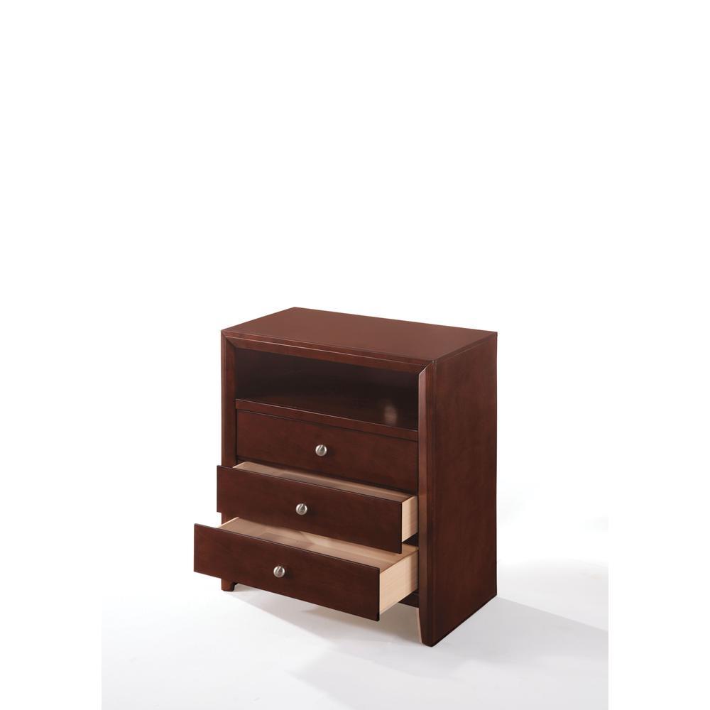 Ilana Queen Bed w/Storage, Brown PU & Brown Cherry, (1Set/3Ctn). Picture 29