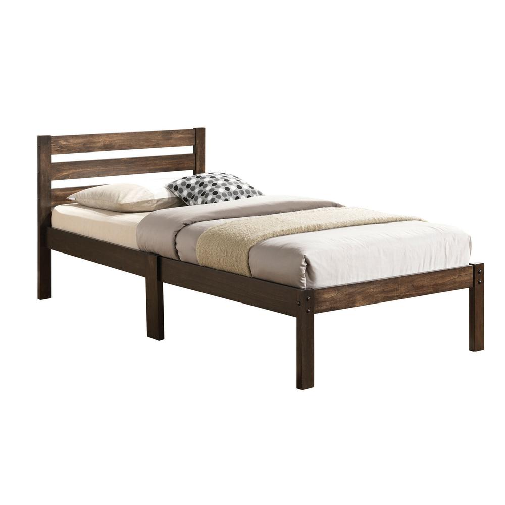 Donato Twin Bed, Ash Brown. Picture 1
