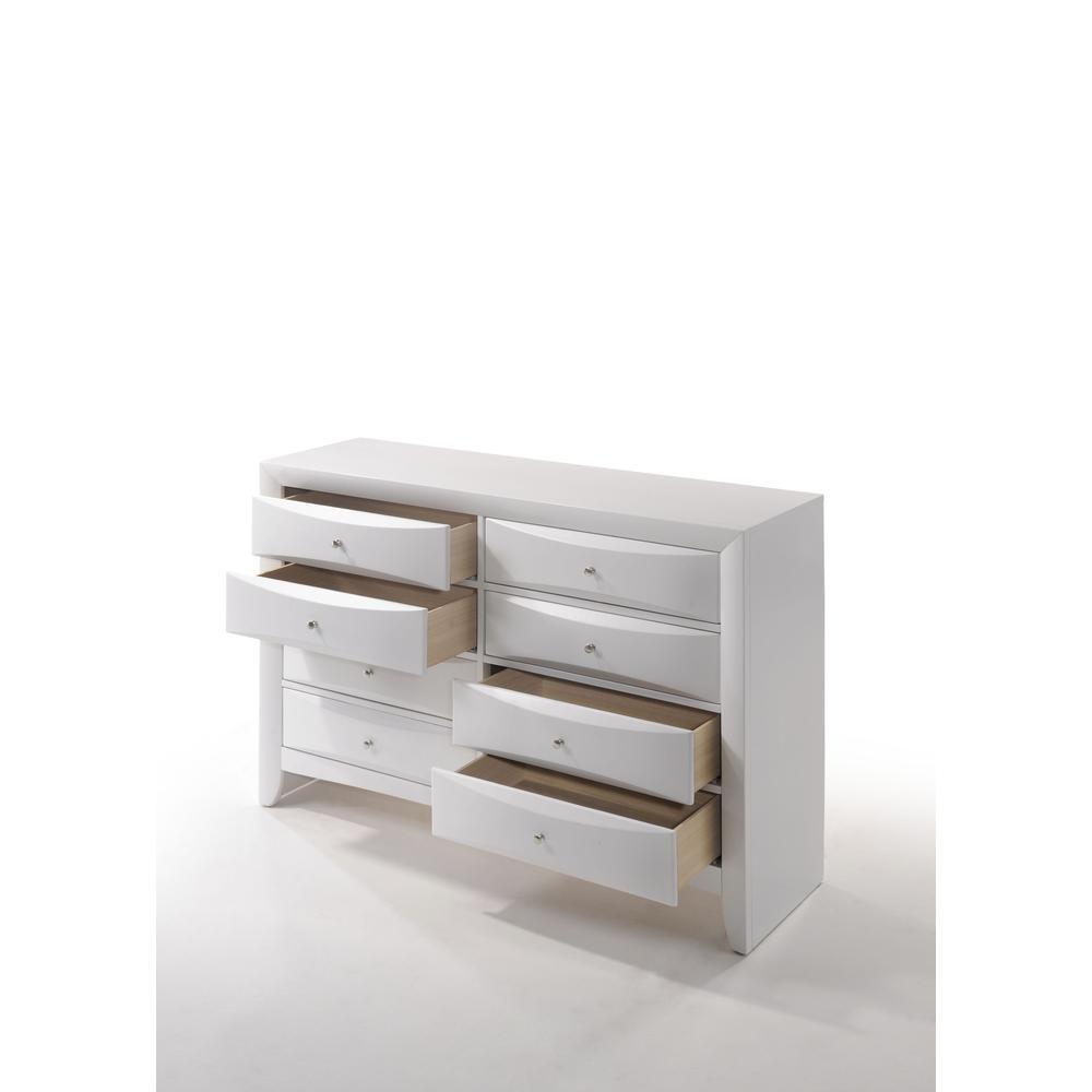 Ireland Queen Bed w/Storage, White (1Set/4Ctn). Picture 12
