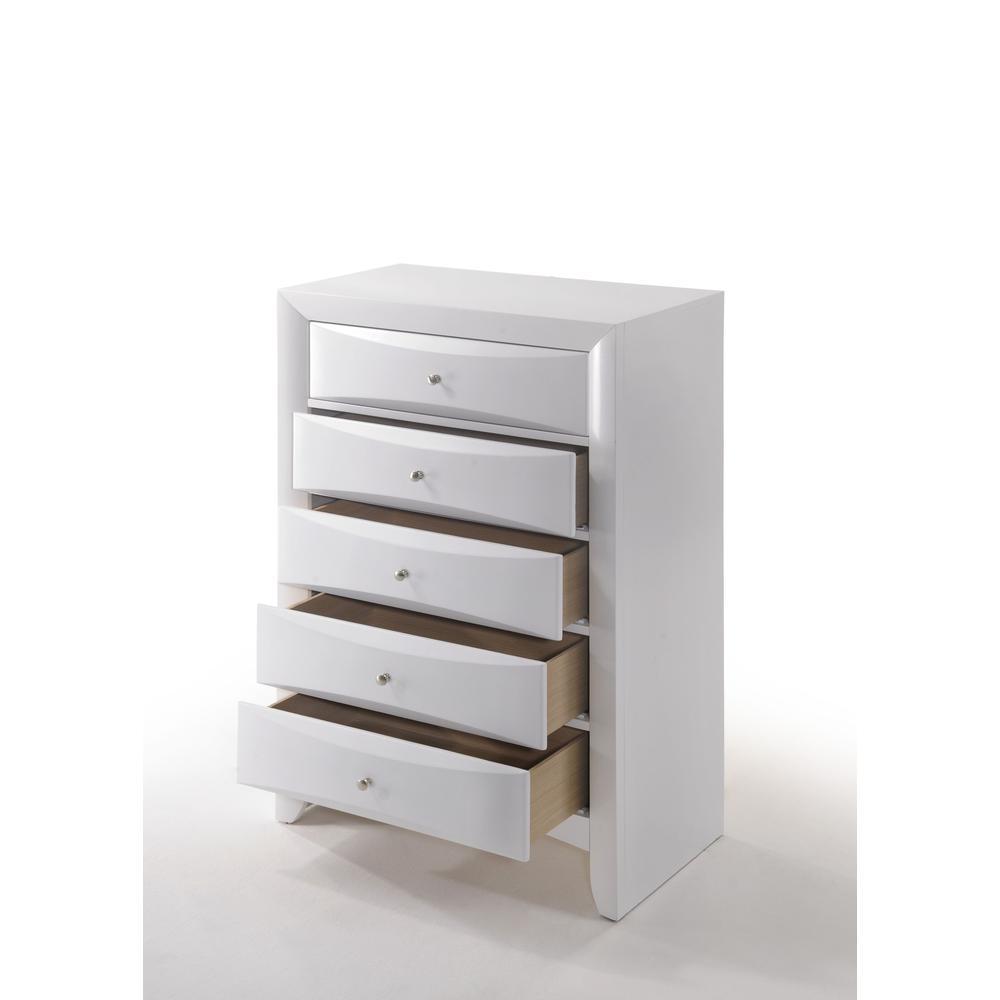 Ireland Queen Bed w/Storage, White (1Set/4Ctn). Picture 17