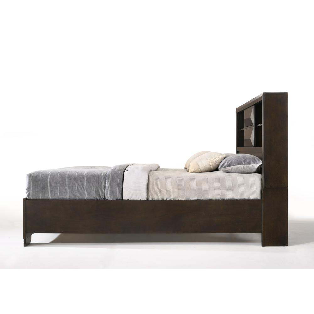 Merveille Eastern King Bed w/Storage, Espresso (1Set/3Ctn). Picture 4