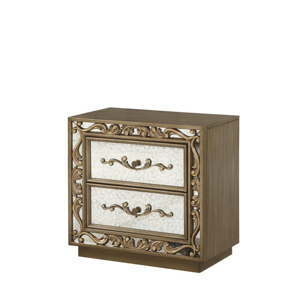 Orianne Nightstand , Antique Gold. Picture 2