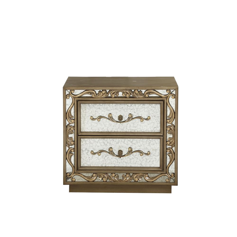Orianne Nightstand , Antique Gold. Picture 4