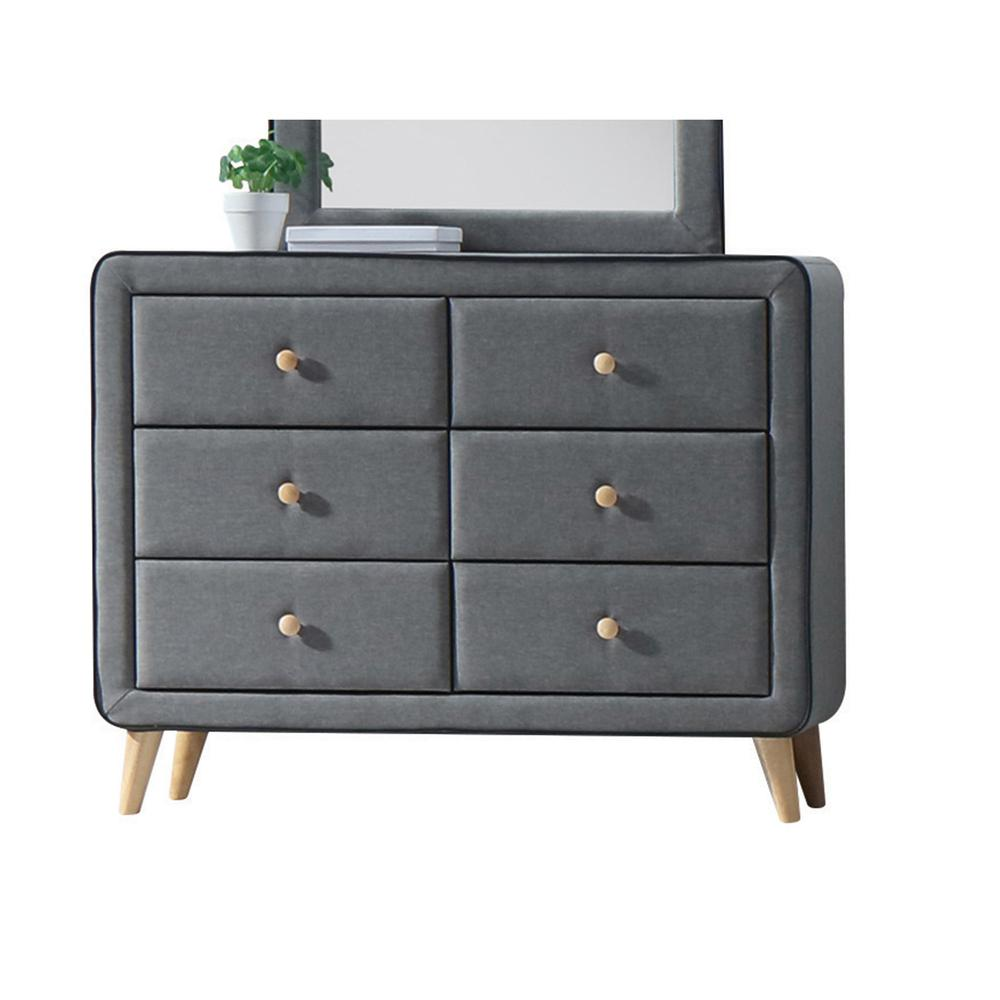 Valda Dresser, Light Gray Fabric. Picture 2