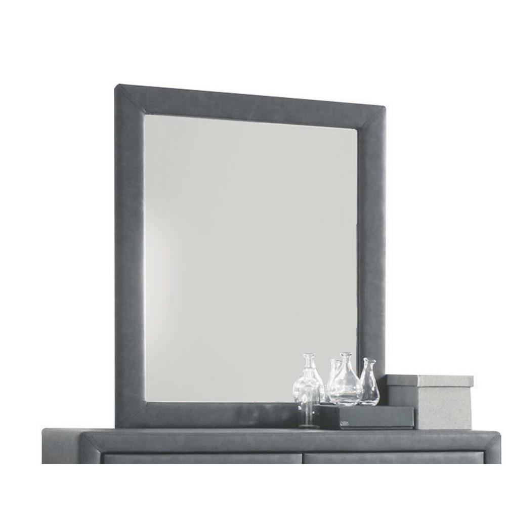 Saveria Mirror, 2-Tone Gray PU. Picture 2