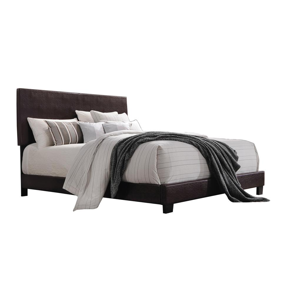 Lien Queen Bed, White PU. Picture 3
