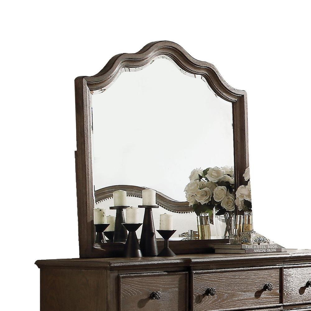 Baudouin Mirror, Weathered Oak. Picture 1