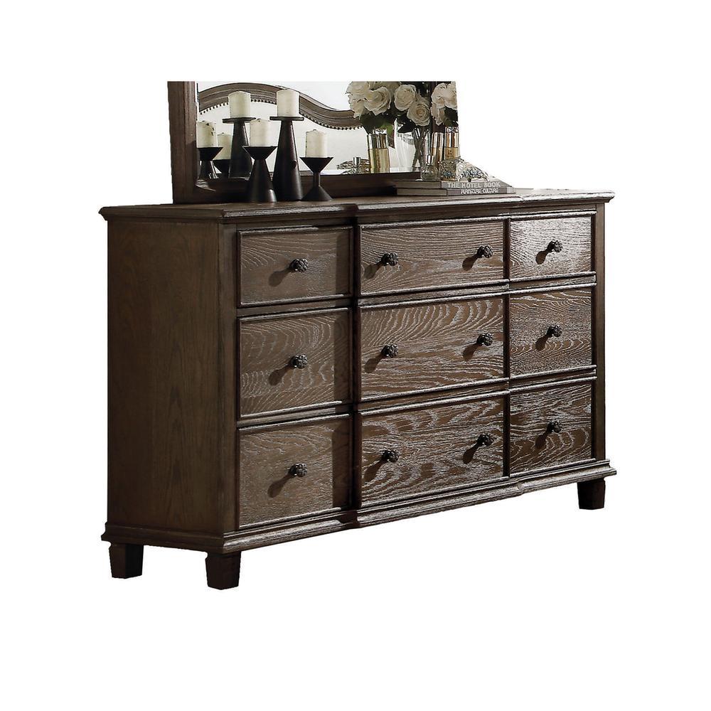 Baudouin Dresser, Weathered Oak. Picture 1