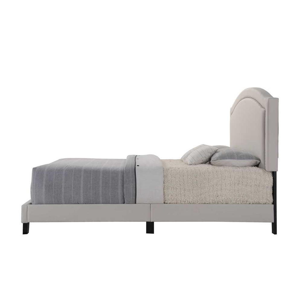 Garresso Queen Bed, Fog Fabric. Picture 4