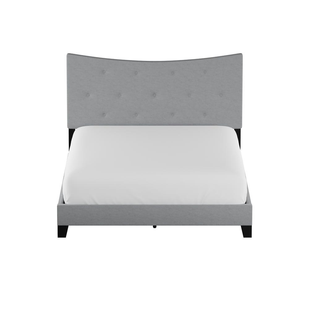 Venacha Queen Bed, Gray Fabric. Picture 1