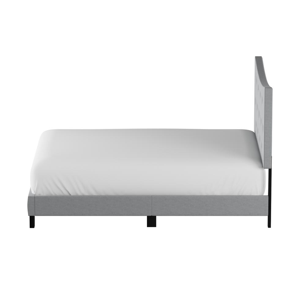 Venacha Queen Bed, Gray Fabric. Picture 7