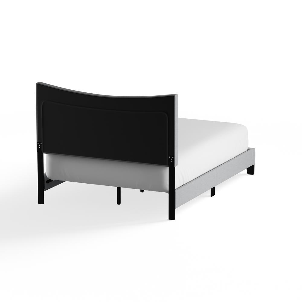 Venacha Queen Bed, Gray Fabric. Picture 15