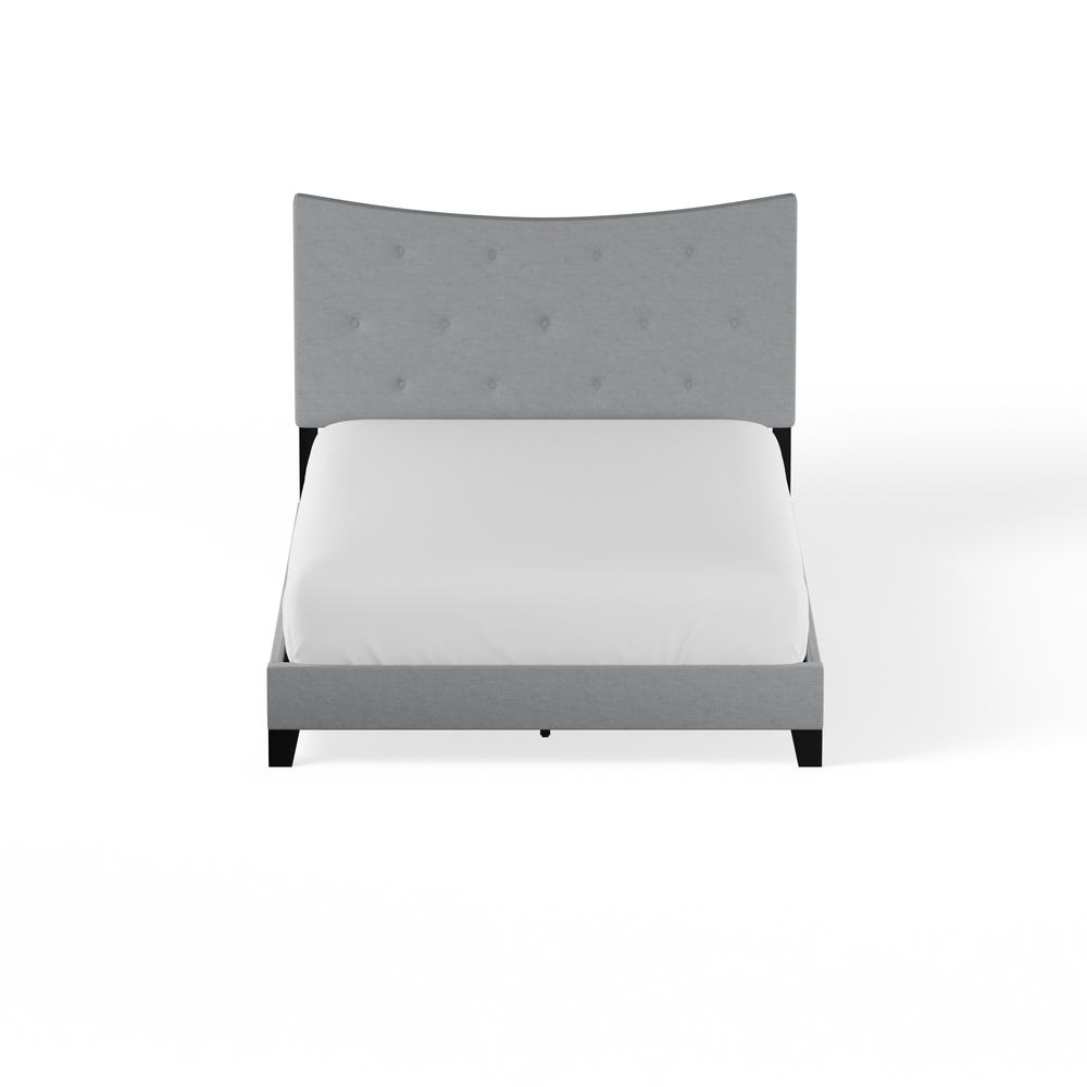 Venacha Queen Bed, Gray Fabric. Picture 17