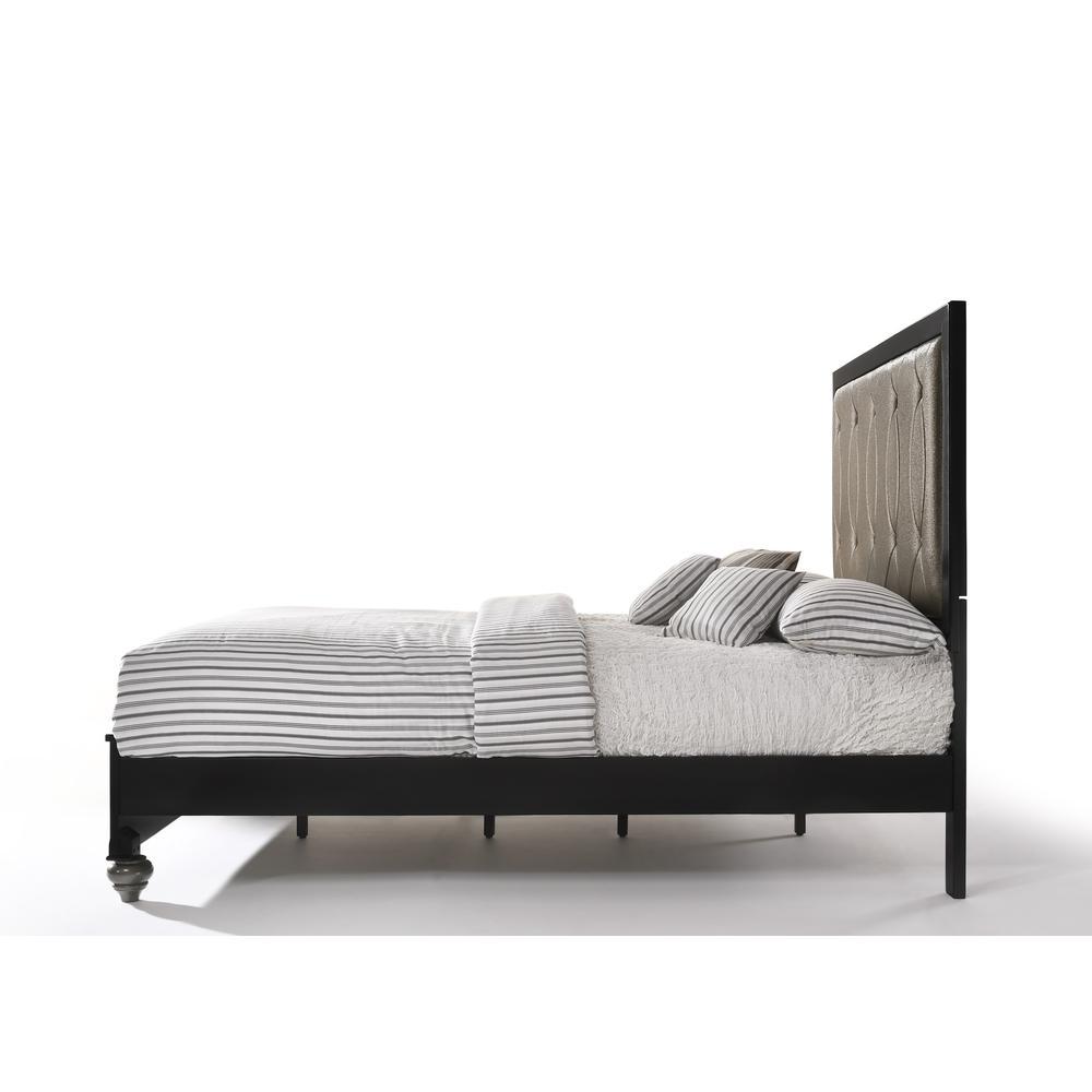 Ulrik Queen Bed, Copper & Black (1Set/2Ctn). Picture 4