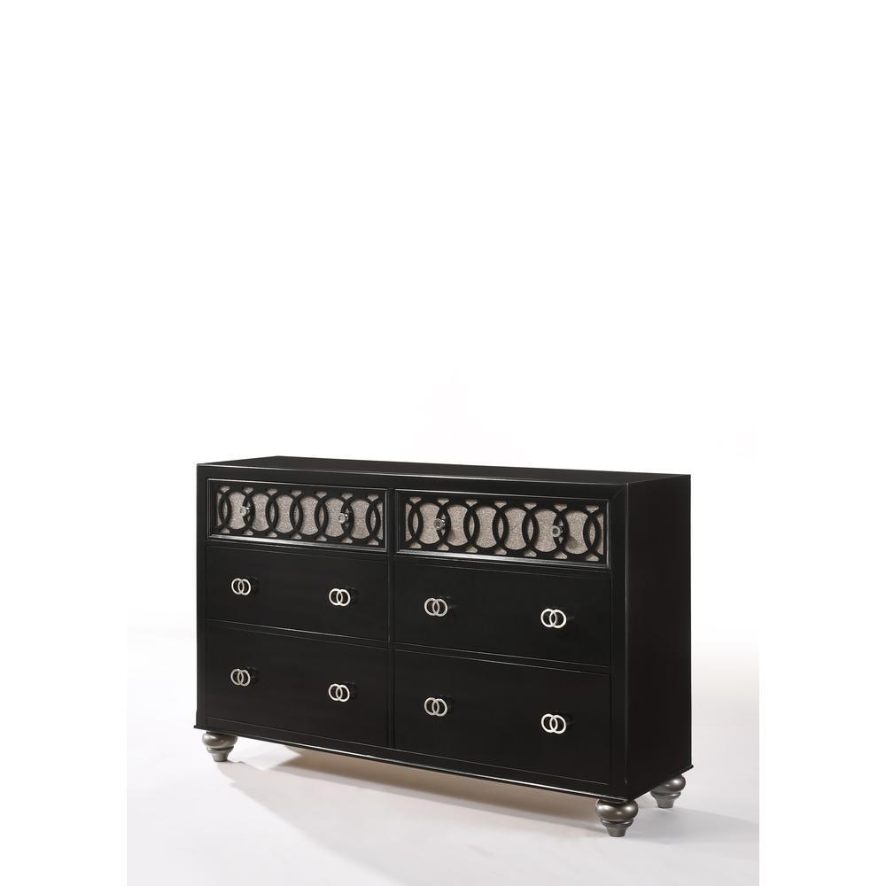 Ulrik Queen Bed, Copper & Black (1Set/2Ctn). Picture 11