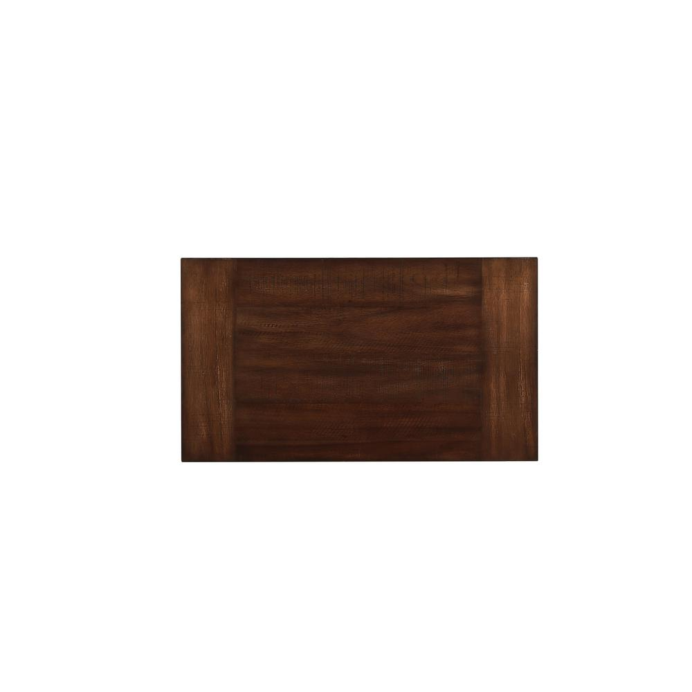 Vibia Queen Bed, Brown Fabric & Cherry Oak (1Set/3Ctn). Picture 9