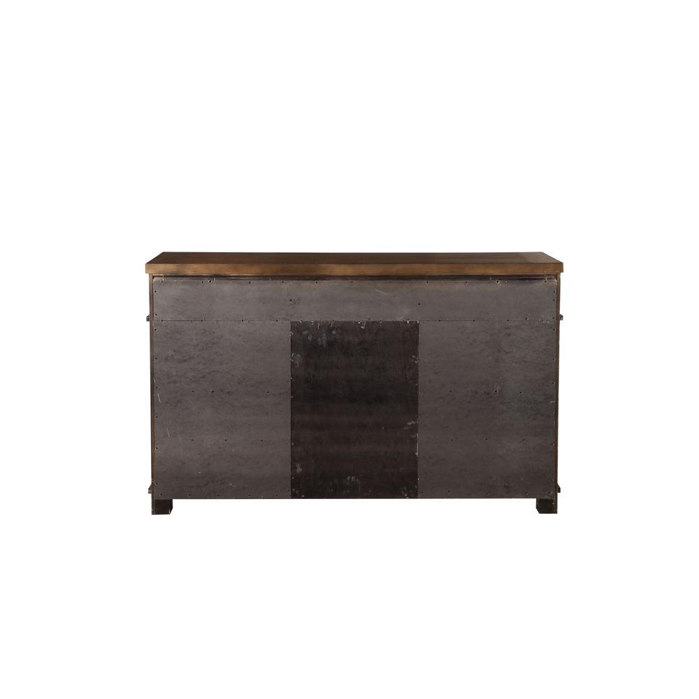 Vibia Queen Bed, Brown Fabric & Cherry Oak (1Set/3Ctn). Picture 13