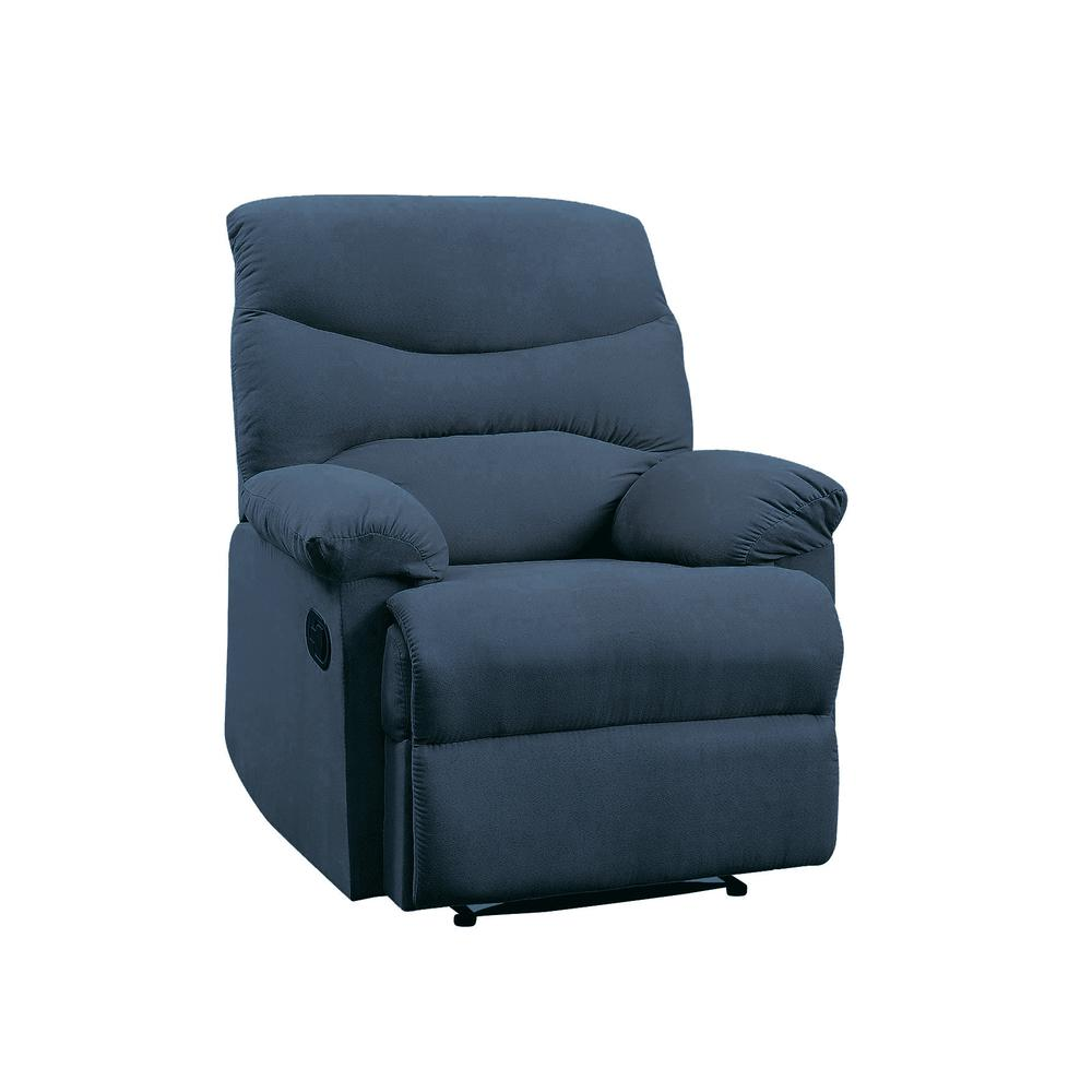 Arcadia Recliner, Blue Fabric. Picture 2