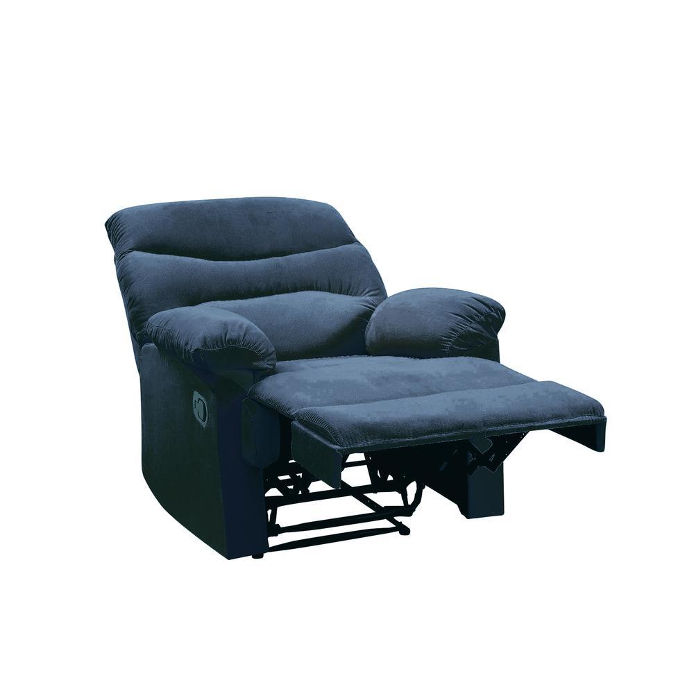 Arcadia Recliner, Blue Fabric. Picture 3
