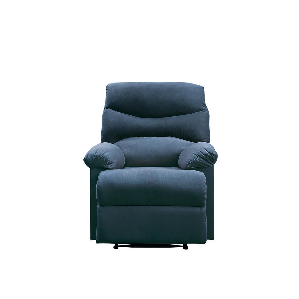 Arcadia Recliner, Blue Fabric. Picture 6