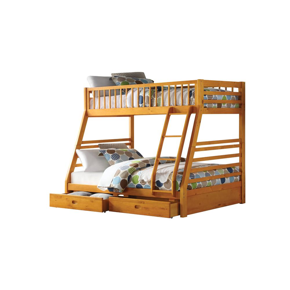 Jason Twin/Full Bunk Bed & Drawers, Espresso (1Set/2Ctn). Picture 1