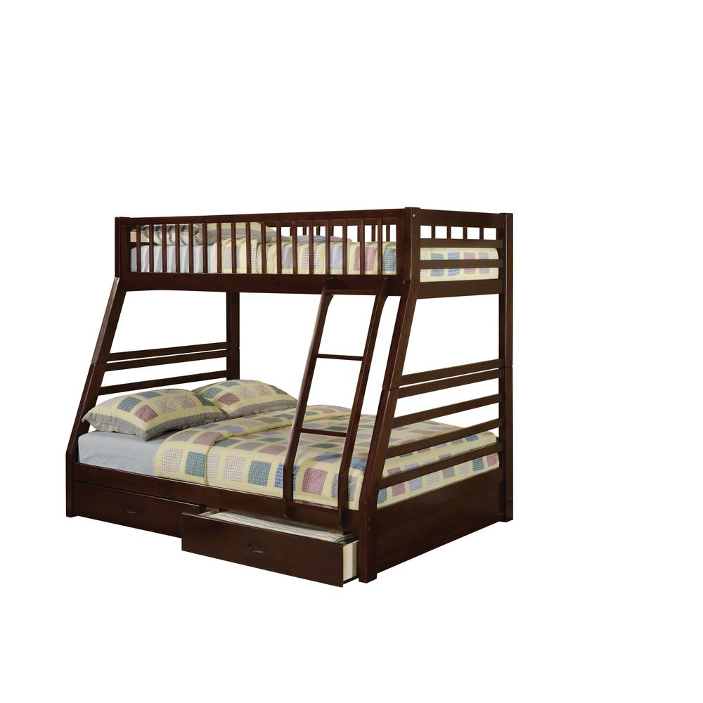 Jason Twin/Full Bunk Bed & Drawers, Espresso (1Set/2Ctn). Picture 5