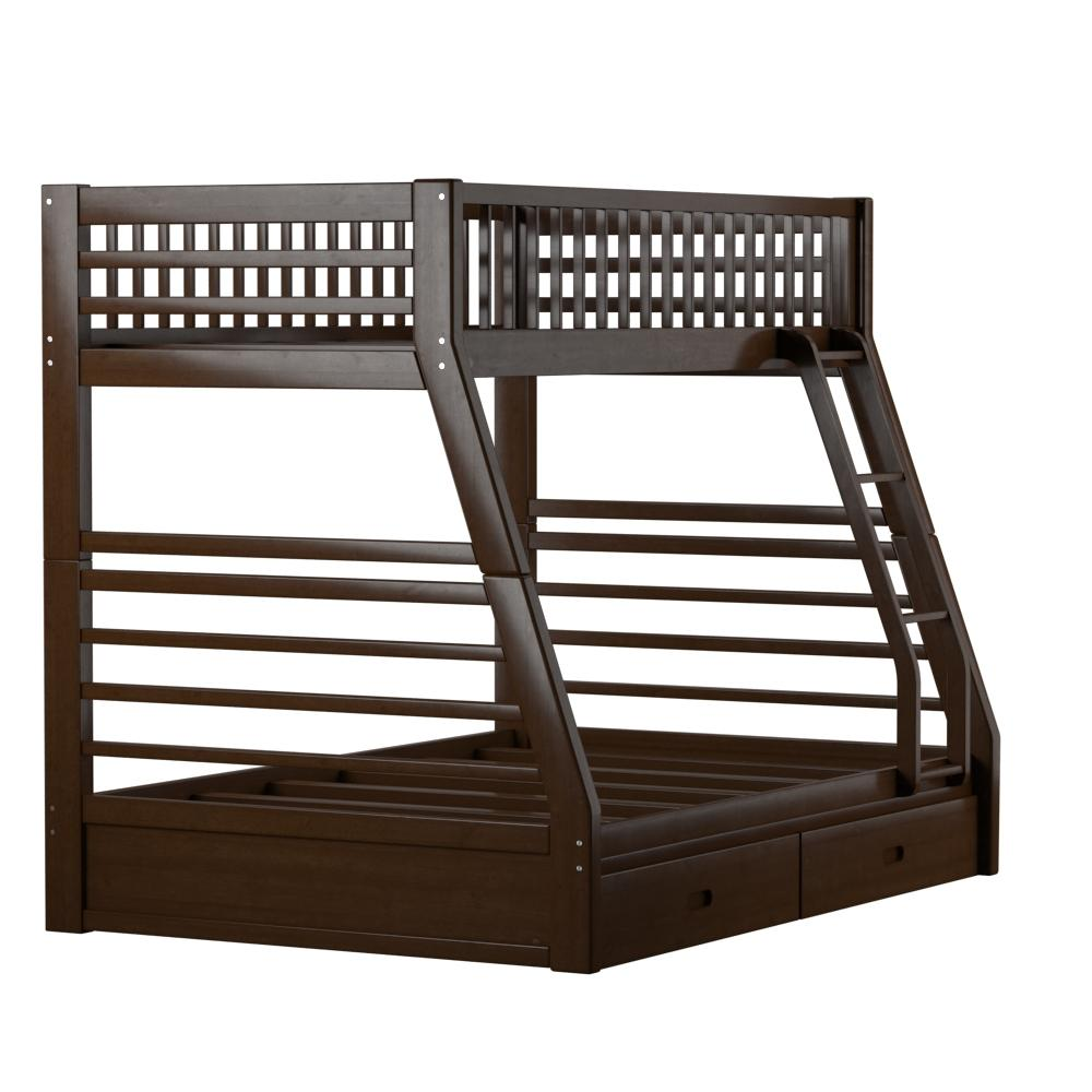 Jason Twin/Full Bunk Bed & Drawers, Espresso (1Set/2Ctn). Picture 7