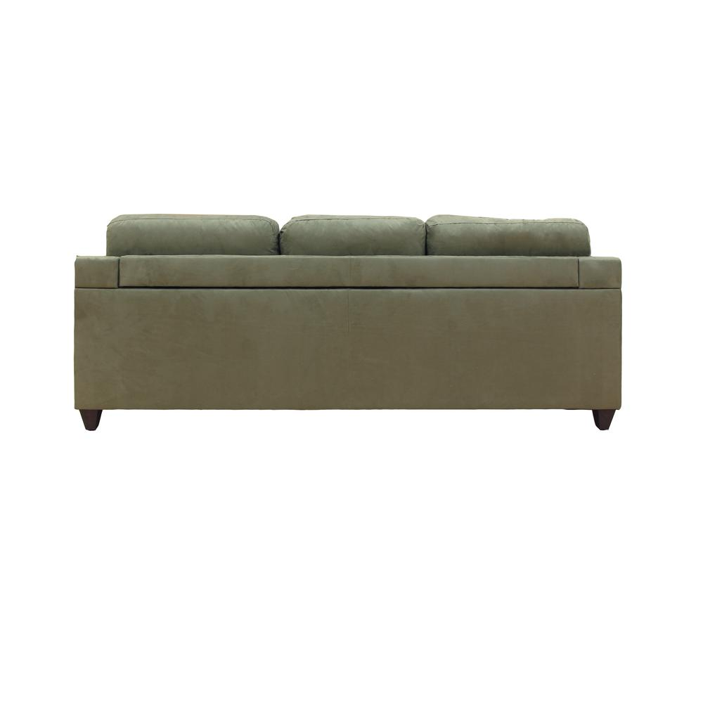 Vogue Sectional Sofa (Reversible Chaise), Red Microfiber. Picture 13