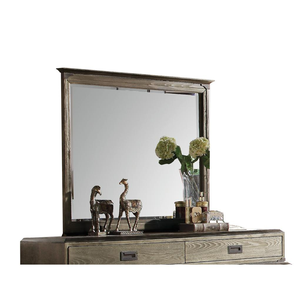 Athouman Mirror, Weathered Oak. Picture 1