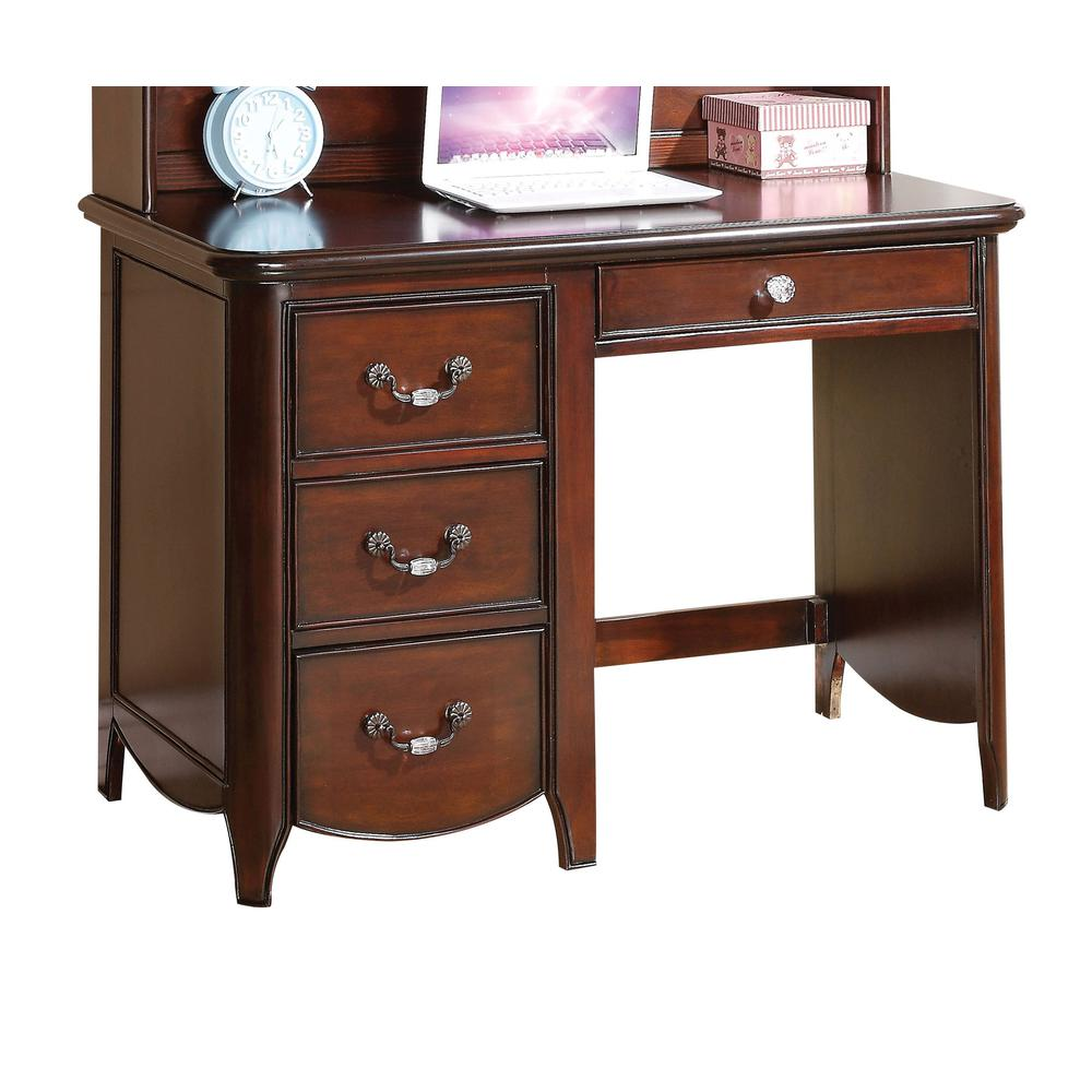 Cecilie Computer Desk, Cherry. Picture 1