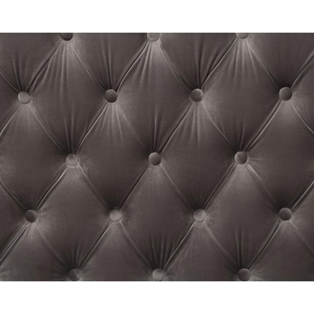 Gillian II Chair w/1 Pillow, Dark Gray Velvet (1Set/2Ctn). Picture 1