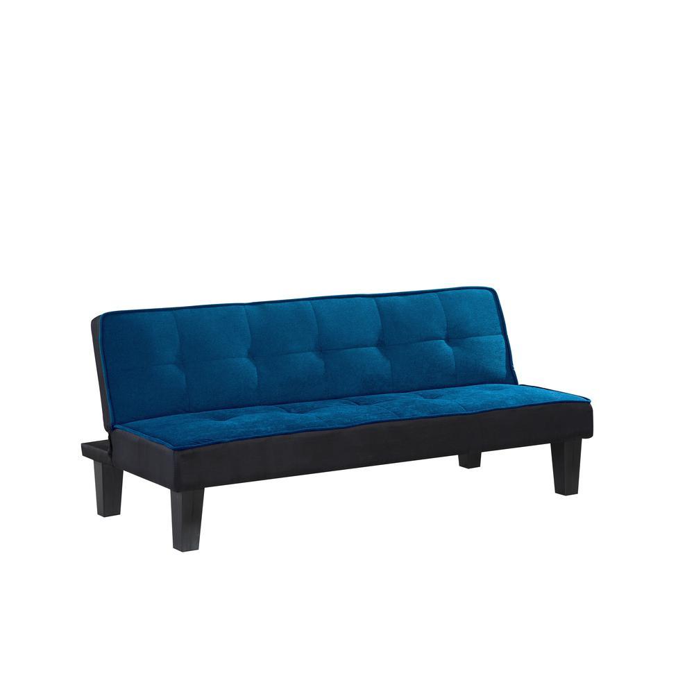 Hamar Adjustable Sofa, Orange Flannel Fabric. Picture 3