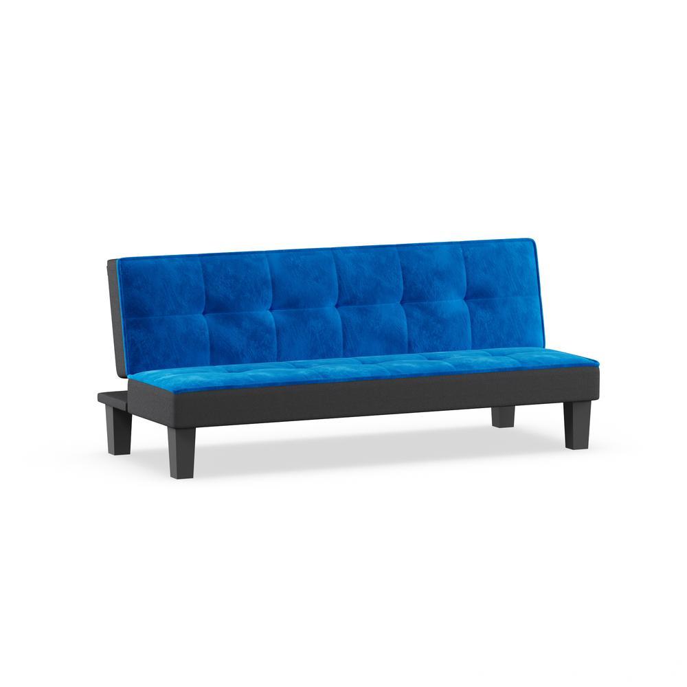 Hamar Adjustable Sofa, Orange Flannel Fabric. Picture 4