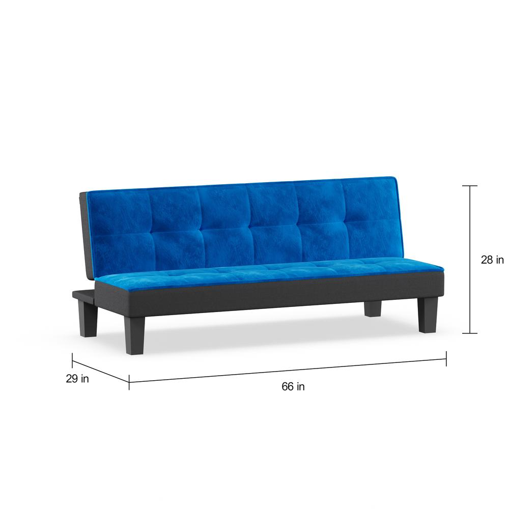 Hamar Adjustable Sofa, Orange Flannel Fabric. Picture 6